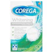 Corega Whitening antibakteriális hatású műfogsortisztító tabletta 30 db