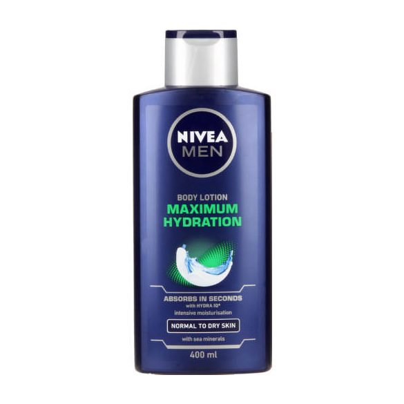 NIVEA MEN Maximum Hydration body lotion testápoló 400ml