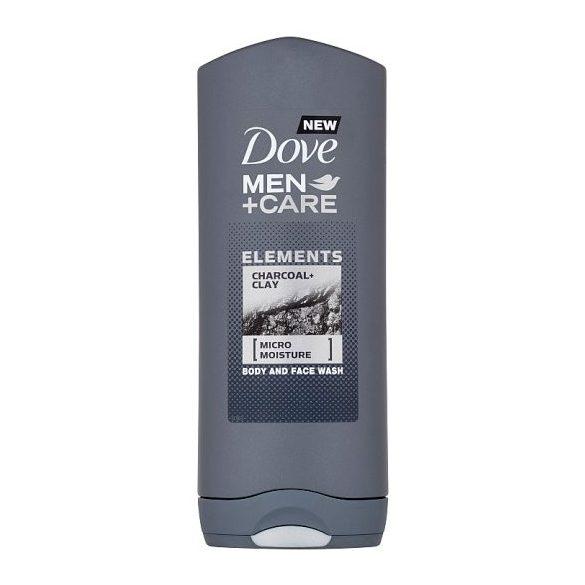 Dove Men+Care Elements Charcoal+Clay tusfürdő testre és arcra 400 ml