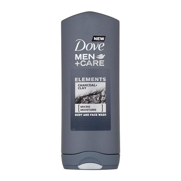 Dove Men+Care Elements Charcoal+Clay tusfürdő testre és arcra 400 ml