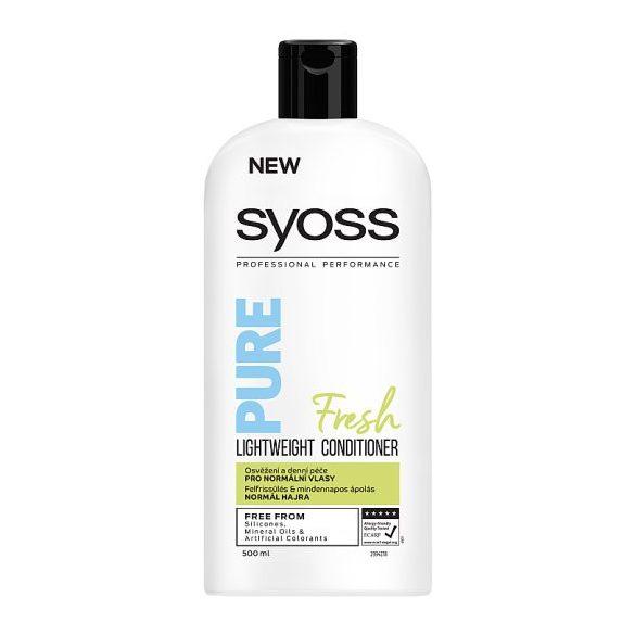 Syoss Pure Fresh könnyed hajbalzsam normál hajra 500 ml