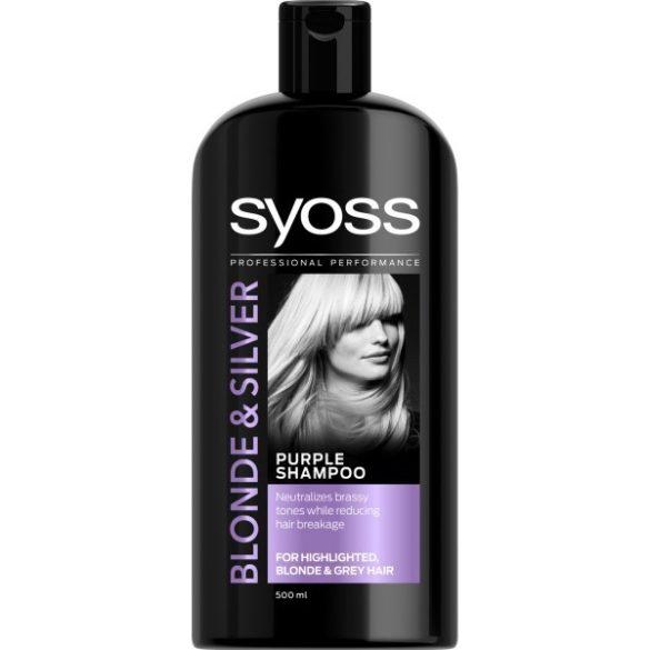 Syoss Blonde & Silver sampon szőke, szőkített és ősz hajra 500ml
