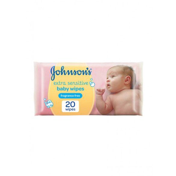 Johnson's extra sensitive  baba törlőkendő 20db-os