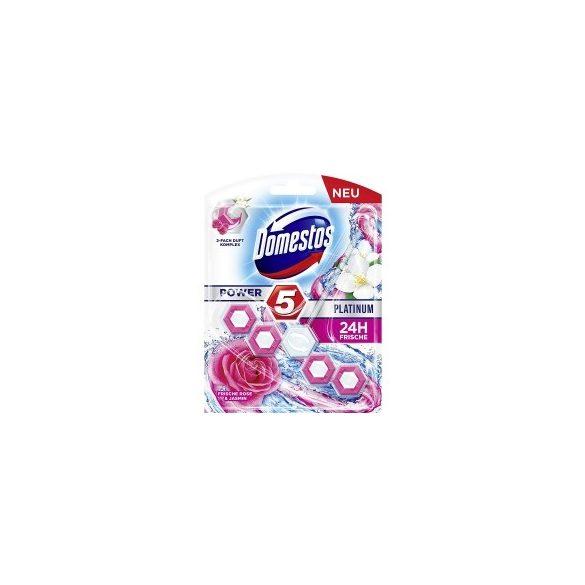DOMESTOS Power5 Platinum Fresh Rose & Jasmine WC frissítő blokk 55g 1db