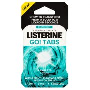 Listerine Go! Tabs Clean Mint Rágótabletta  4 db