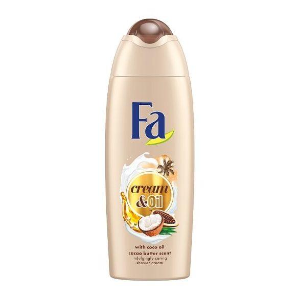 Fa Cream & Oil Kakaóvaj és kókuszolaj krémtusfürdő 250 ml