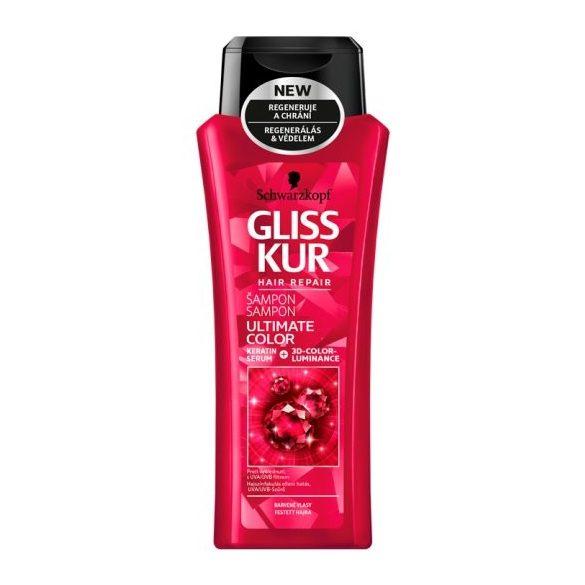 Gliss Kur hajregeneráló sampon Ragyogó szín és védelem 400 ml