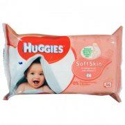 Huggies soft skin törlőkendő 56db-os
