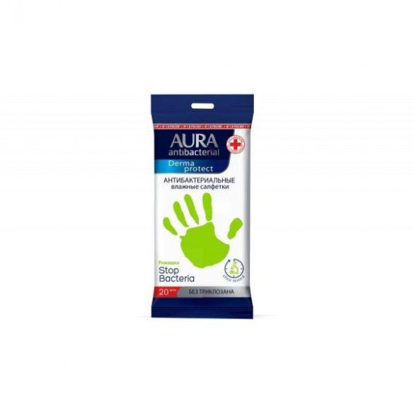 Aura Derma Protect antibakteriális törlőkendő 20db-os