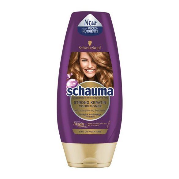 Schauma Keratin Erő balzsam vékonyszálú és gyenge hajra 200 ml