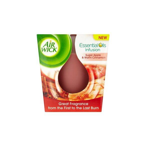 Air Wick Essential Oils Cukoralma és fahéj illatgyertya   105gr.