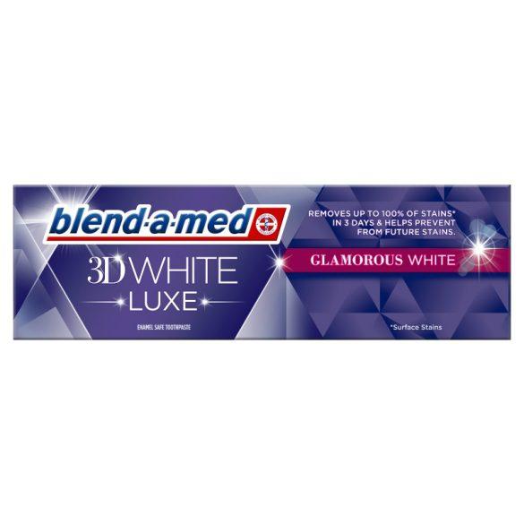 Blend-a-Med 3D White Luxe Glamours White fehérítő fogkrém - 75 ml