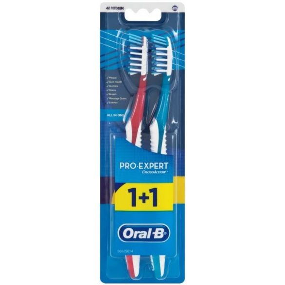 Oral B Pro-Expert CrossAction All In One fogkefe 2db Medium