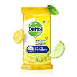 Dettol Antibakteriális felülettisztító kendő Citrus, 32db-os