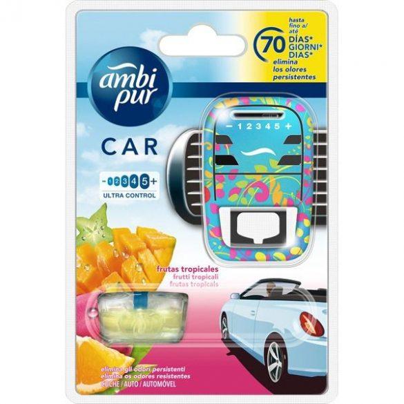 Ambi Pur Car Tropical Fruit autó illatosító készülék és parfümpatron 7ml