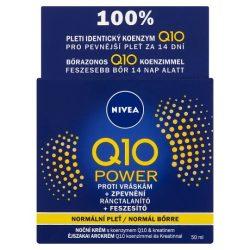 NIVEA Q10 Power ránctalanító + feszesítő éjszakai arckrém normál bőrre 50 ml