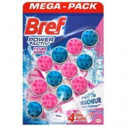 Bref Power Aktiv wc tisztító blokk Pink Roses 3x50g.