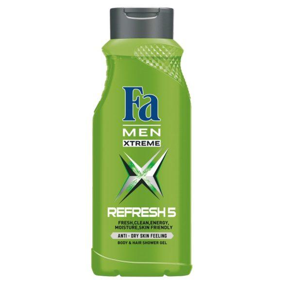 FA MEN XTREME 5 REFRESH TUSFÜRDŐ body&hair 400ml
