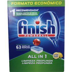 Finish Powerball All in One  mosogató tabletta 63db