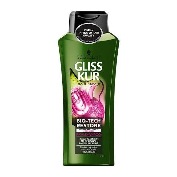 Gliss Kur Bio-Tech Restore hajregeneráló sampon 400 ml