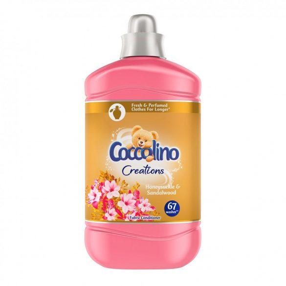 Coccolino Creations Honeysuckle & Sandalwood üblítő 67 mosás, 1,68 l