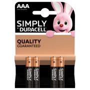 DURACELL  Simply AAA ceruzaelem 4db-os csomag