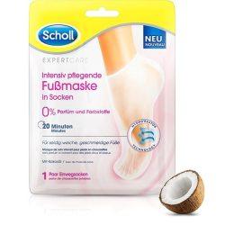 SCHOLL PediMask™ Expert Care Coconut Oil hidratáló lábápoló maszk 1 pár/2db