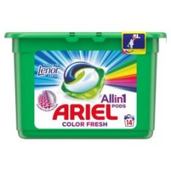 Ariel Allin1 PODS Touch Of Lenor Fresh Color Mosókapszula 14db