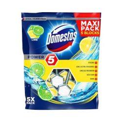 Domestos Power5 WC frissítő blokk Lime 5db-os (5x55g)