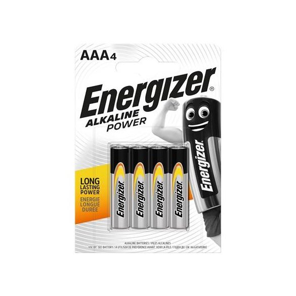 Energizer Alkaline Power AAA mikro ceruzaelem 4 darabos csomag