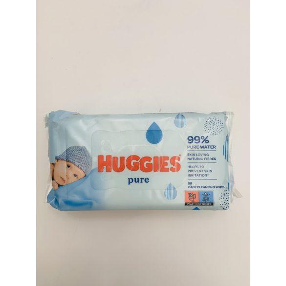 Huggies Törlőkendő Pure  56 db-os