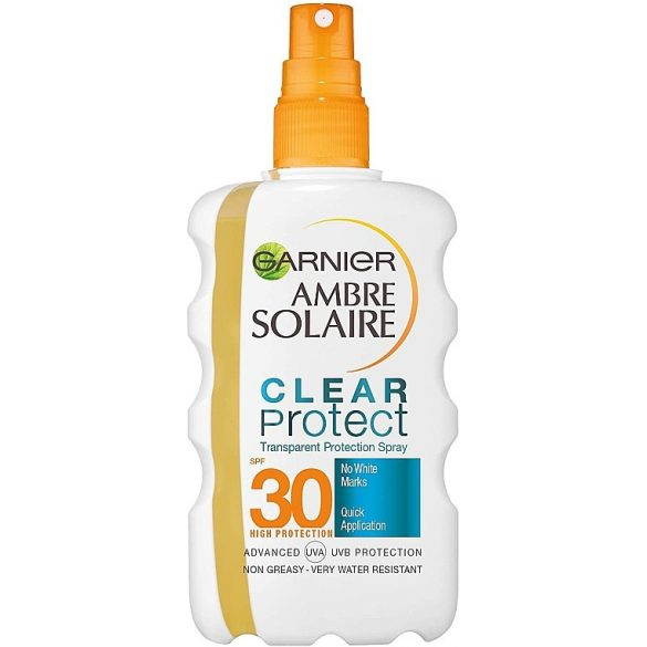 GARNIER AMBRE SOLAIRE CLEAR PROTECT Bronze vízálló napozó olaj SPF30 200ml
