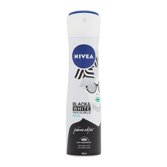 NIVEA Black & White Invisible Fresh izzadásgátló dezodor  150 ml