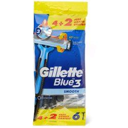 Gillette Blue3 Smooth Eldobható Férfi Borotva 6 darab