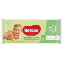 HUGGIES Natural Care Aloe Vera popsitörlőkendő 56db-os