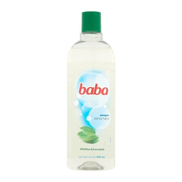 Baba sampon zsíros hajra zöldtea-kivonattal 400 ml