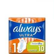 Always Ultra Normal Szárnyas Egészségügyi Betét (1-Es Méret), 10 Betét