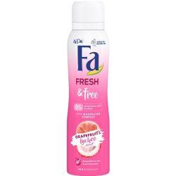 Fa Fresh & Free Grapefruit & Lychee Scent Alumínium és Alkoholmentes dezodor 150ml