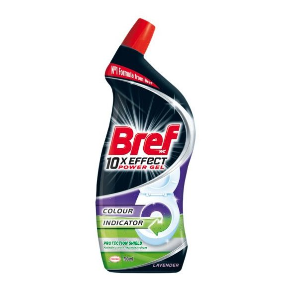 Bref 10x Effect Power Gel Protection Shield Lavender WC tisztító 700 ml