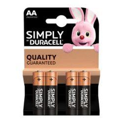 DURACELL Simply  AA ceruzaelem 4db-os csomag