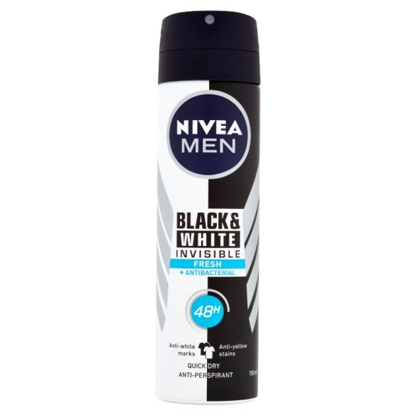 NIVEA MEN Black & White Invisible Fresh izzadásgátló dezodor  150 ml
