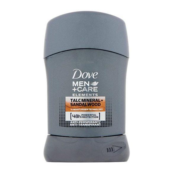 Dove Men+Care Talc Mineral+Sandalwood izzadásgátló stift 50 ml