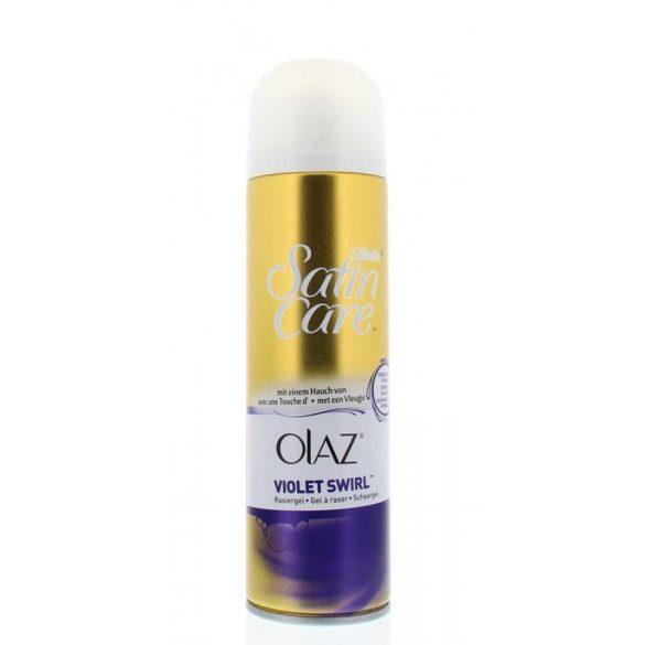 Gillette Satin Care Olay Violet Swirl női borotvazselé 200ml