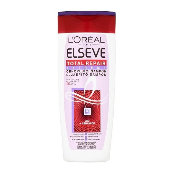 L'Oréal Paris Elseve Total Repair Extreme újjáépítő sampon száraz, sérült hajra 400 ml