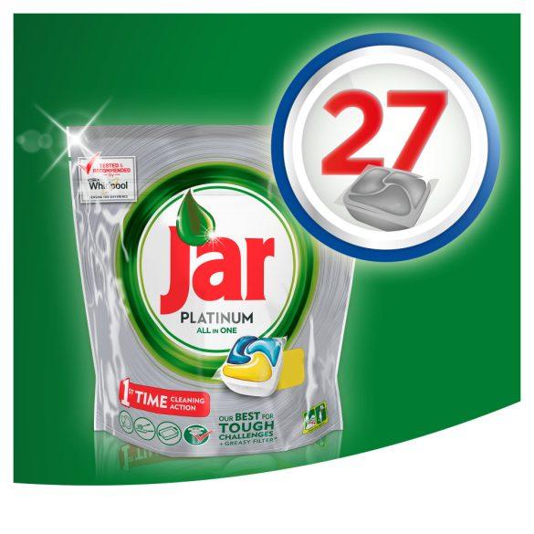 Jar PLATINUM mosogatógép tabletta 27db lemon