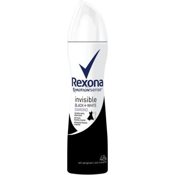Rexona Invisible on black + white clothes Diamond izzadásgátló dezodor150 ml