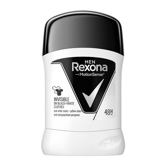 Rexona Men Invisible on black + white clothes izzadásgátló stift 50 ml