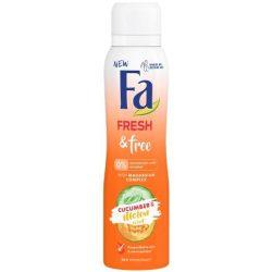 Fa Fresh & Free Cucumber & Melon Scent Aluminium és Alkoholmentes dezodor 150ml