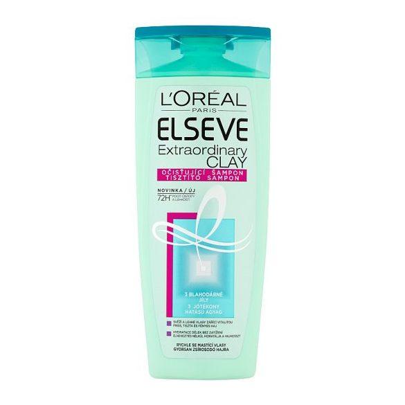 L'Oréal Paris Elseve Extraordinary Clay tisztító sampon gyorsan zsírosodó hajra 400 ml