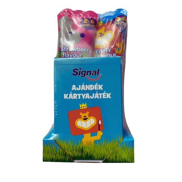 Signal Kids 2-6 Éves Korig eper-gyümülcs duo fogkrém Ajándék kártyával 2x50ml